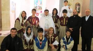 Fr. Mihăiţă (primul, rândul de jos stânga) şi fratele Maximilian (în picioare, penultimul din  dreapta)