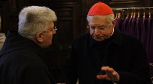 10 martie a.c., Bazilica Sfinţii XII Apostoli (Roma): card. Angelo Scola şi fr. Marco Tasca, Ministru general OFMConv