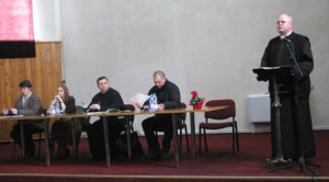 "11 martie 2013, Aula Magna a Institutului Franciscan din Roman: ""Fides quaerens intellectum"""