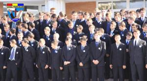 Elevi ai Liceului Franciscan din Roman