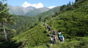 Campus itinerant în munți