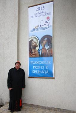 Cardinalul Joao Braz de Aviz în România, la Luncani